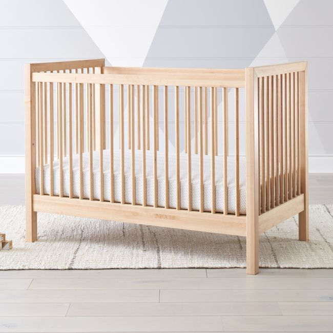 Andersen Ii Maple Crib Reviews Crate And Barrel In 2020 Cribs Wood Crib Scandinavian Nursery