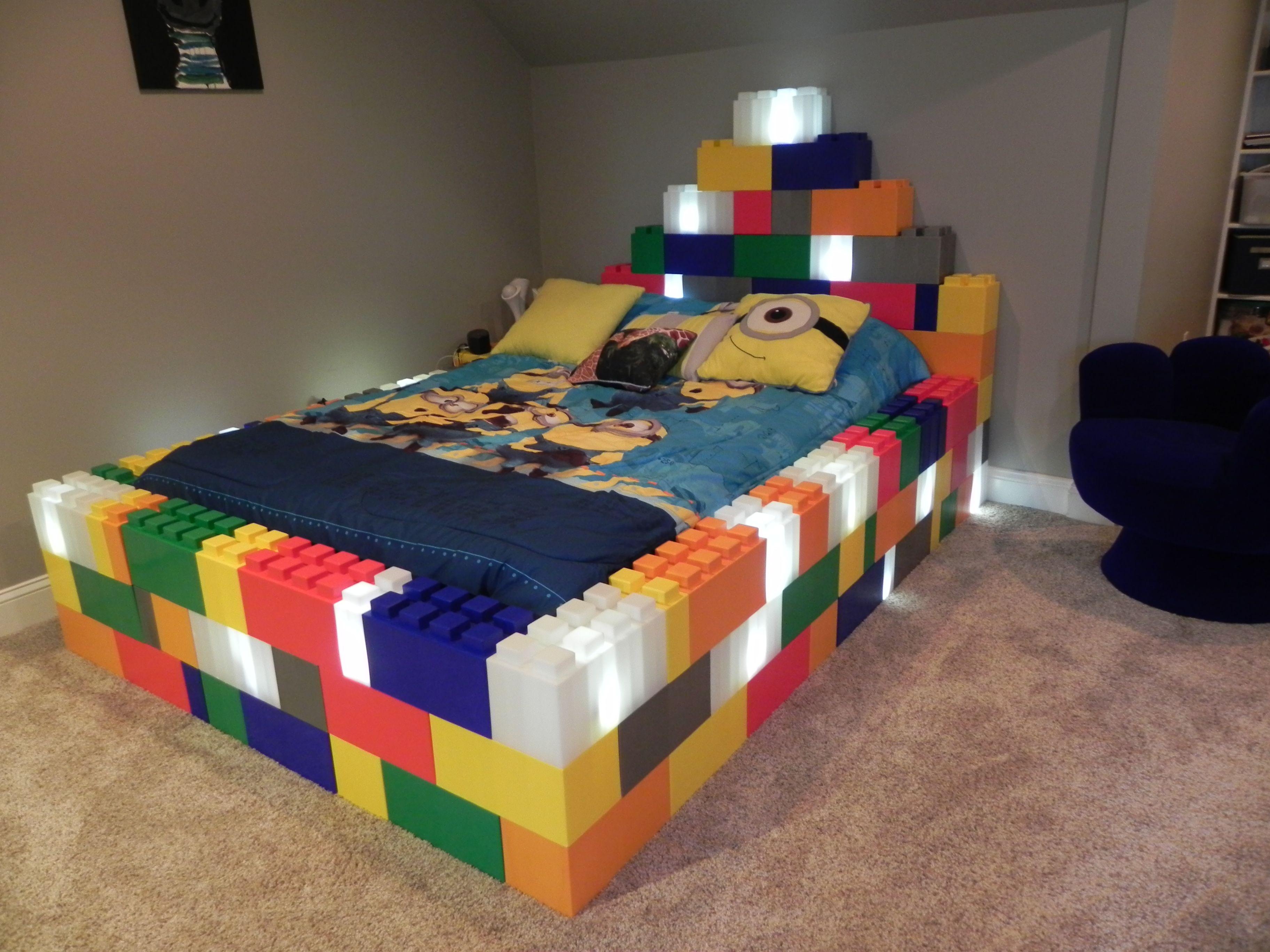 cama #bloques #iluminación #LED #Creatividad #decoración ...