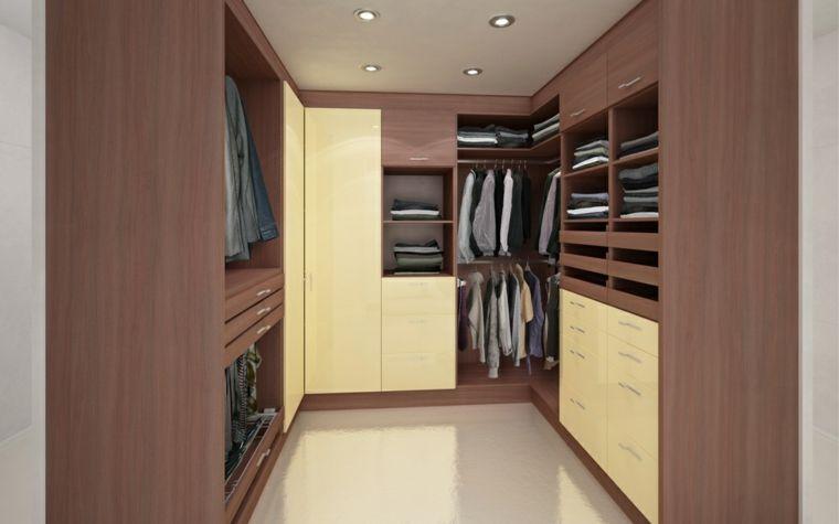 Armario con laminado de madera vestidores pinterest armario empotrado laminas de madera y - Disenar un armario empotrado ...
