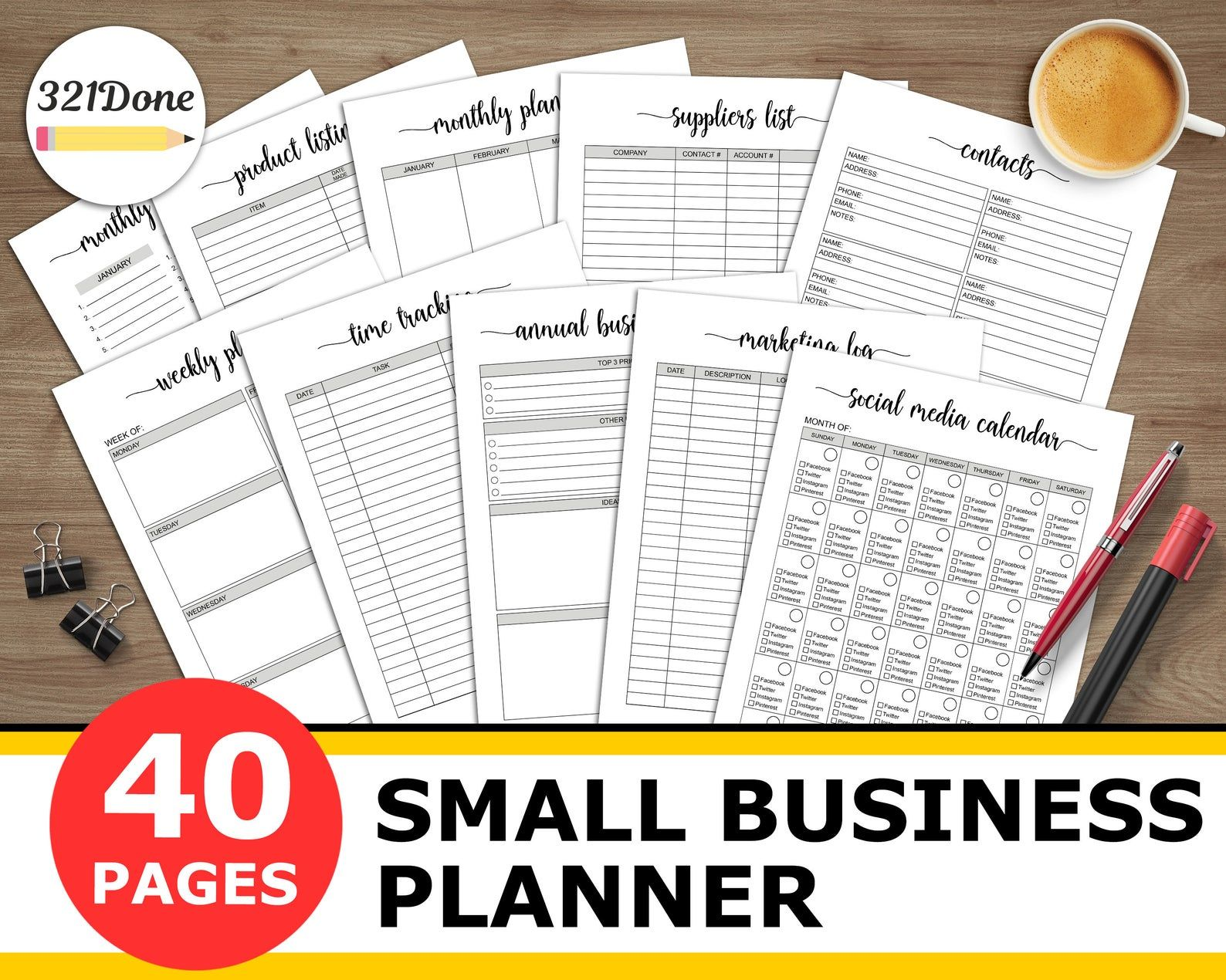 Small Business Planner Printable Home Business Journal