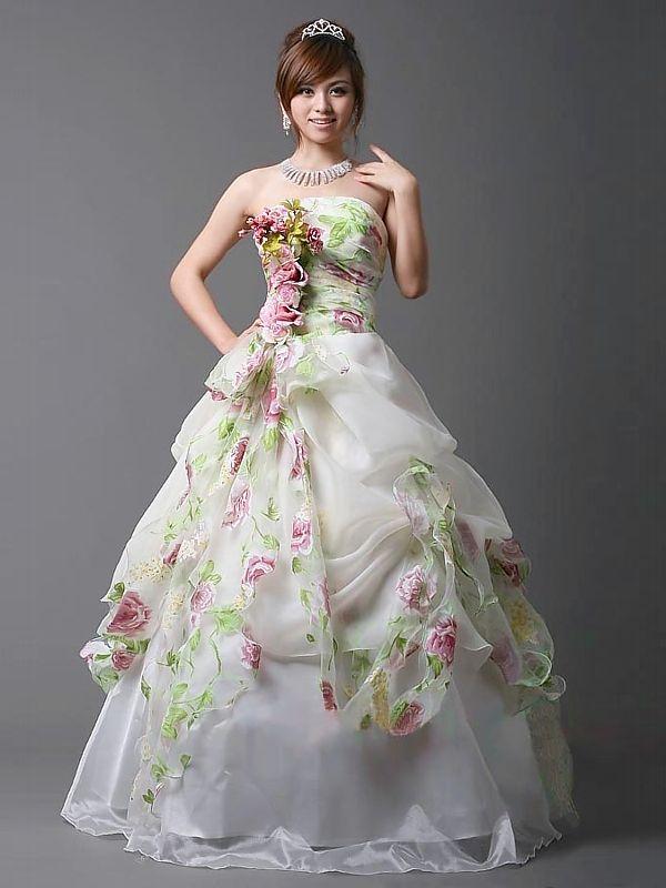 Fairy Like Dresses Style Wedding Dress With Flower Lique
