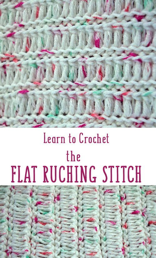 Flat Ruching Stitch Häkeln Pinterest Häkeln Häkeln Muster Und