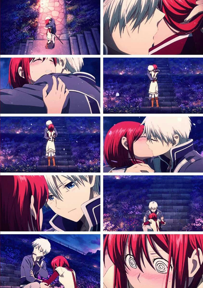 Zen And Shirayuki That Entire Scene Made Me Weak In The Knees Xddd Snow White With The Red Hair Anime Snow Anime Kiss