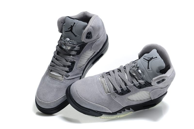 Mens Nike Air Jordan 5 Iv Retro Fur Cool Grey Shoe Lowest Prices Guaranteed