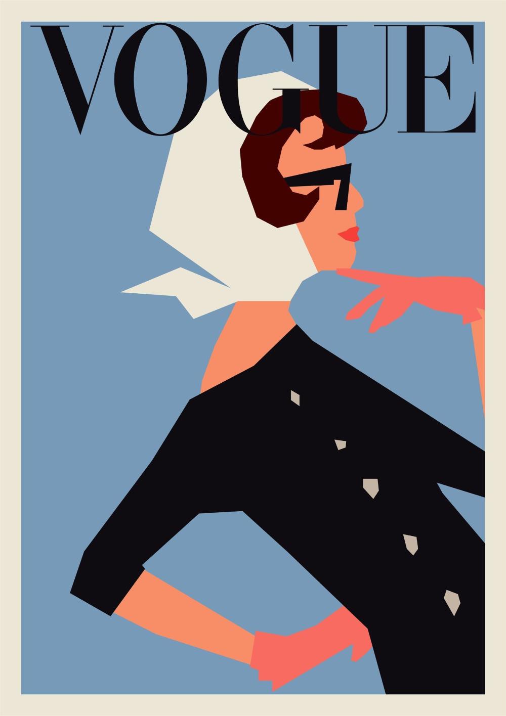 Vogue Color Poster Culture Posters 20 Off Vintage Poster Design Vintage Posters Decor Fashion Wall Art