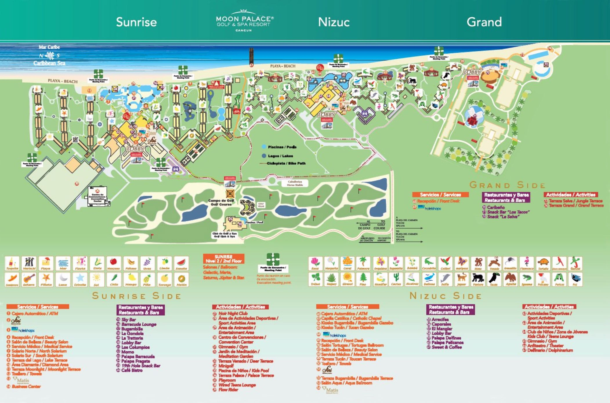 map of resorts in cancun Moon Palace Map Lugares Para Visitar Lugares map of resorts in cancun
