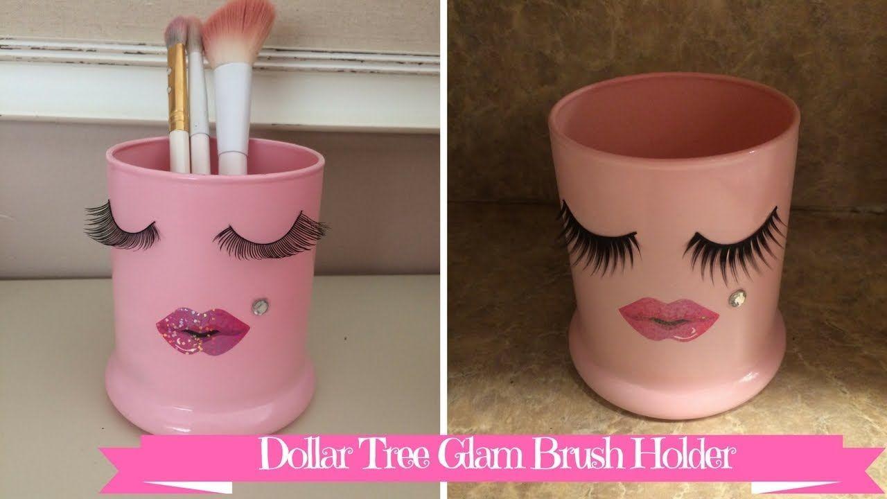 Dollar Tree Craft Diy Glam Eyelash Makeup Brush Holder Diy