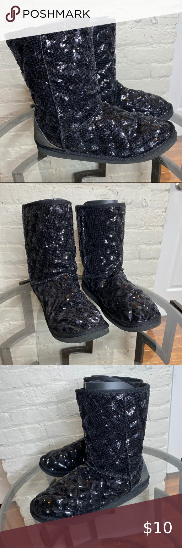 size 11 sequin boots
