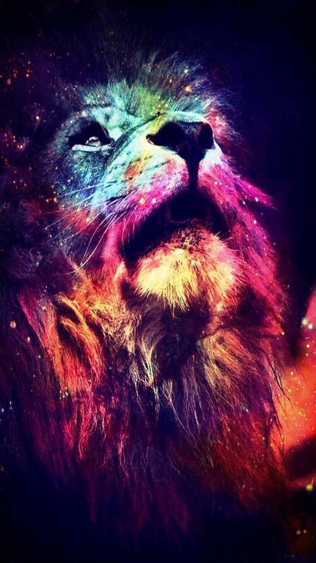 Phone Wallpaper Animals Universe Lion Space Nebula Abstract Lion Lion Wallpaper Hipster Wallpaper