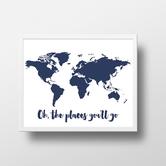 Printable world map poster oh the places youll go world map print printable world map poster oh the places youll go world map print digital gumiabroncs Gallery