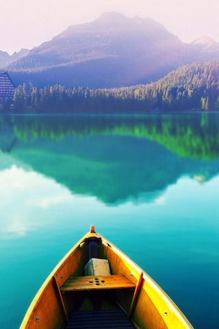 Download Boat On Peaceful Lake Reflection Iphone Wallpaper 42642 From Mobile Wallpapers Th Nature Iphone Wallpaper Beautiful Nature Wallpaper Nature Wallpaper