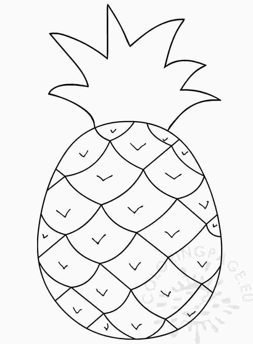 Coloring Page Pineapple Black And White Coloring Pages Black