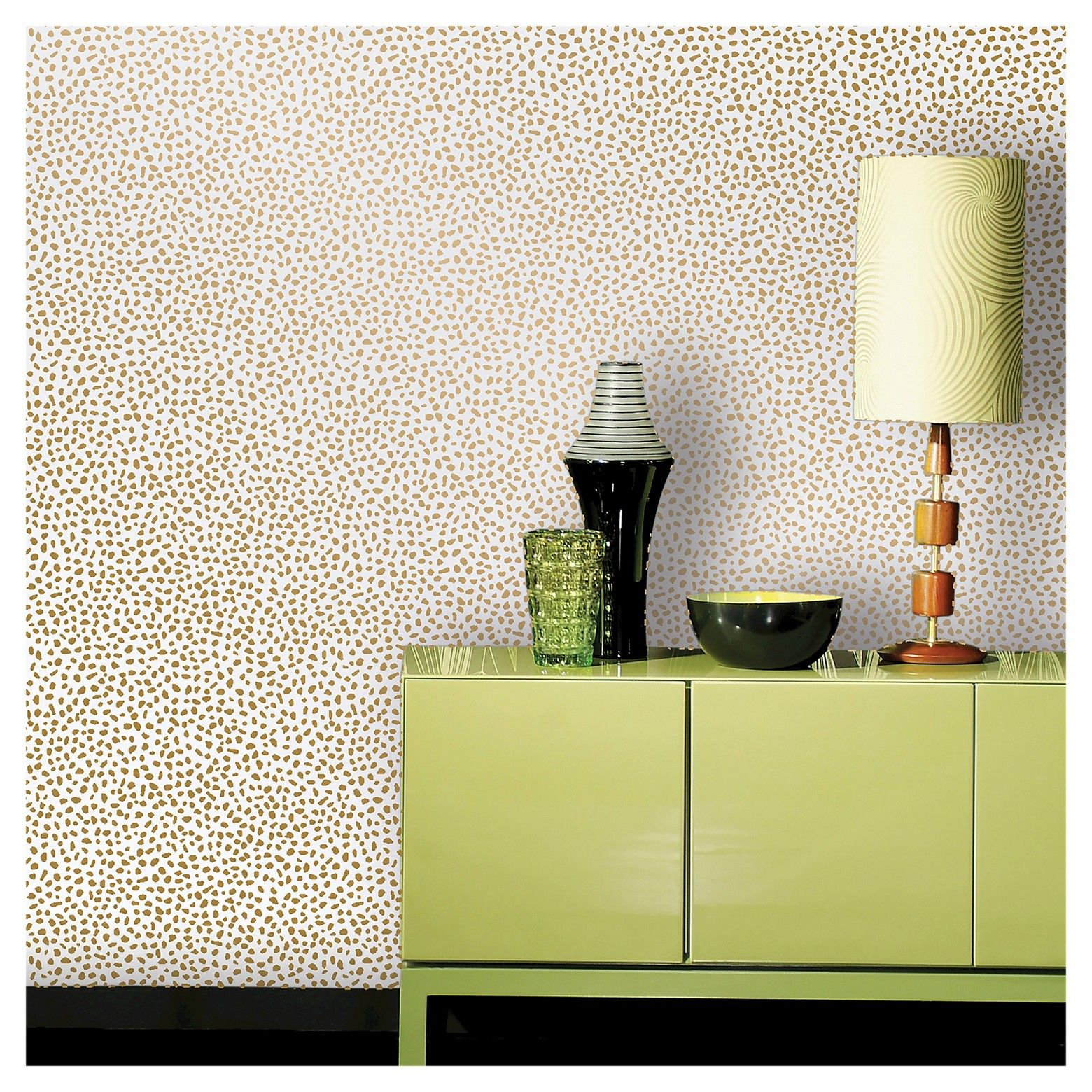 Speckled Dot Peel & Stick Wallpaper Gold Opalhouse