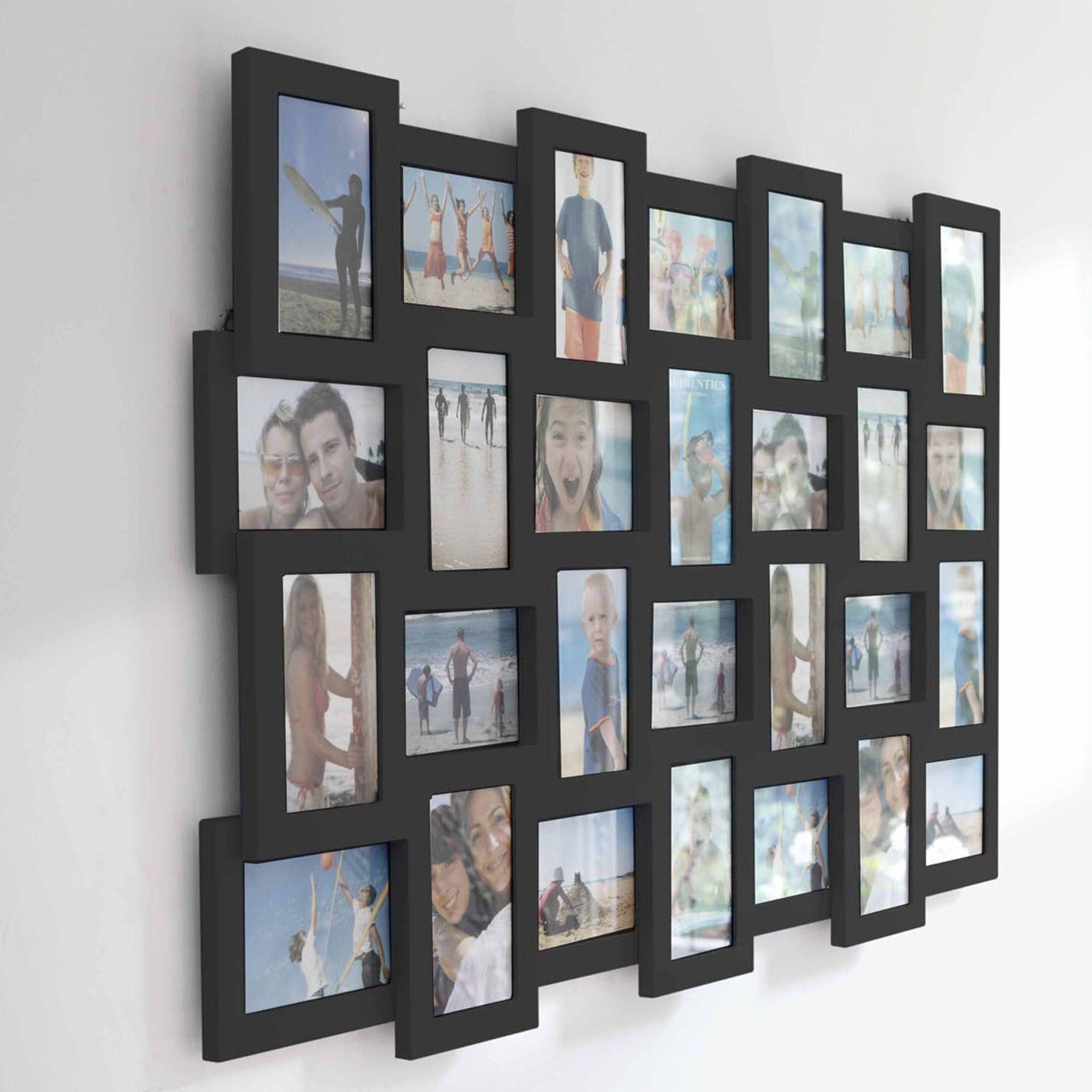 Authentics Studio 28 Picture Multi Frame, Black