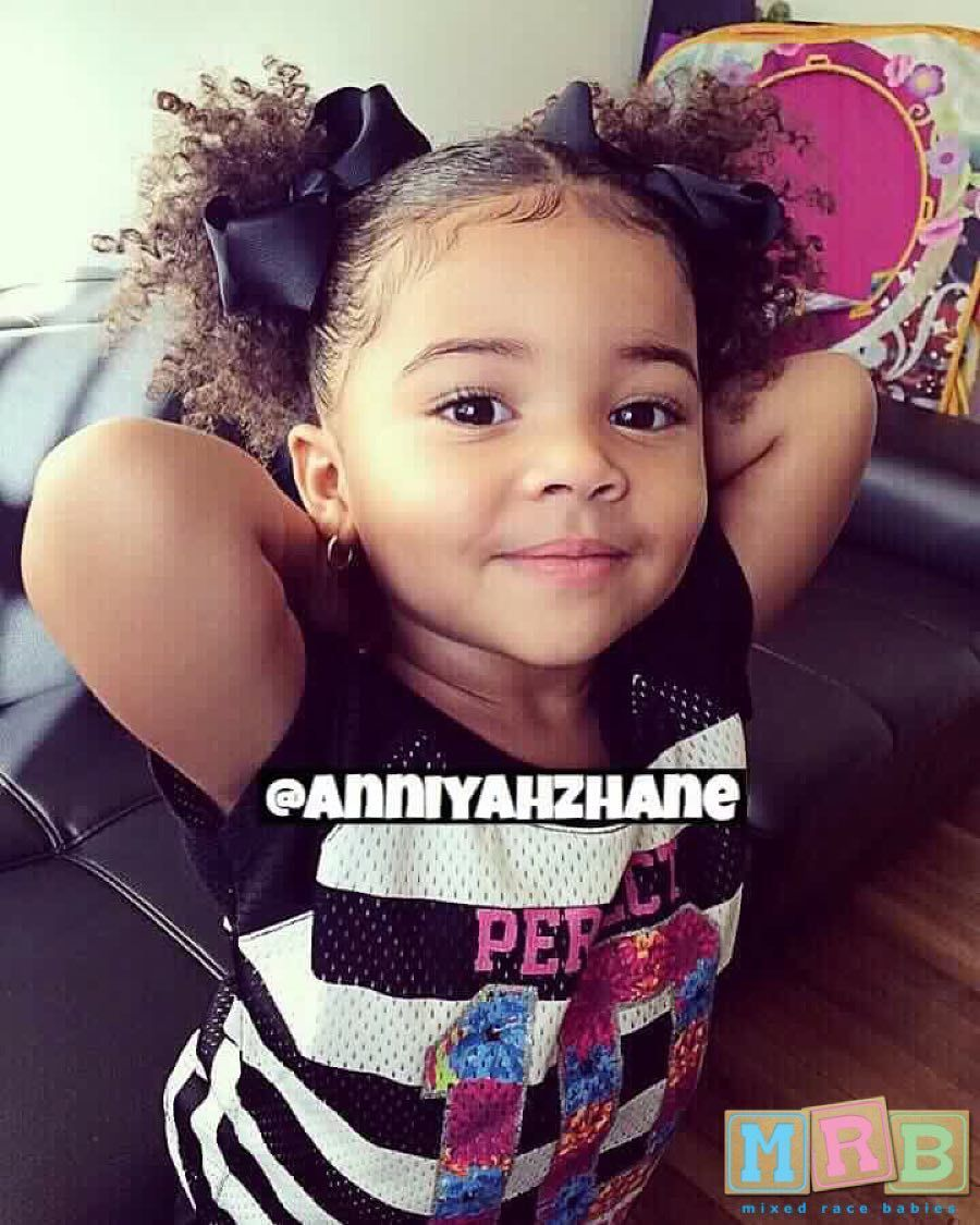 Simple Curly Mixed Race Hairstyles For Biracial Girls Baby Girl