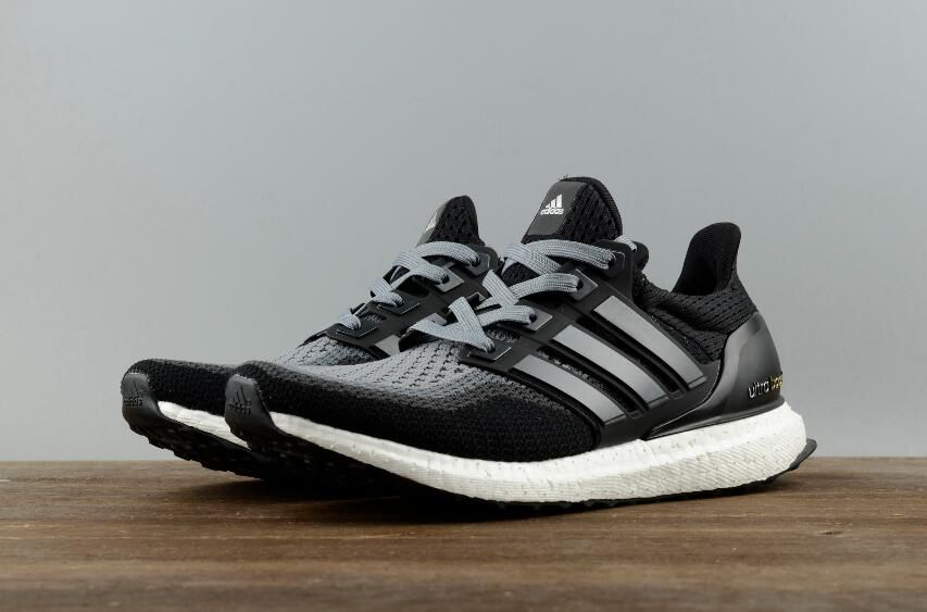the latest 24518 2d904 New Authentic Adidas Ultra Boost 2.0 Black Grey AQ400 Real ...