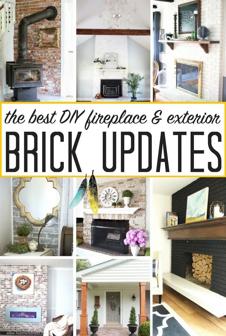 Weuve a Brick House The best updates for brick fireplaces exterior