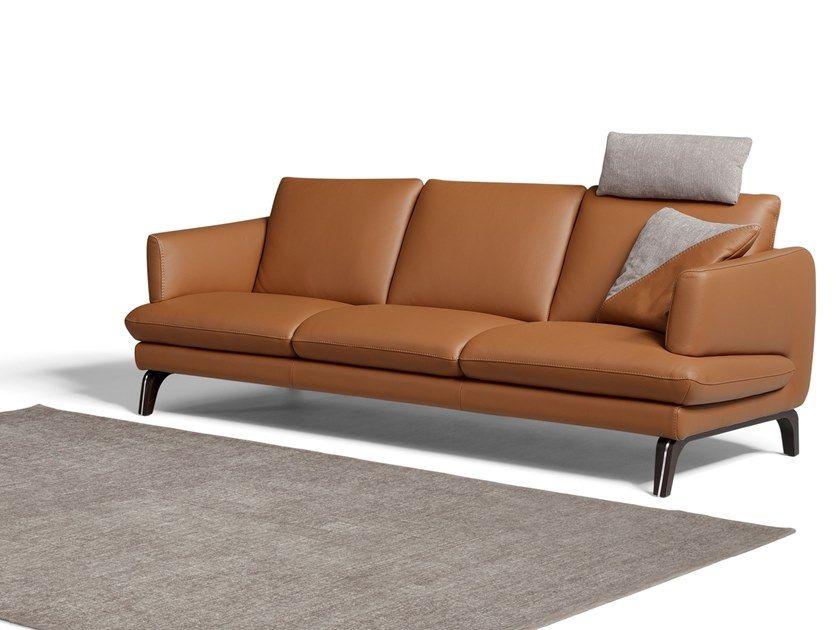 3 Seater Leather Sofa Esprit
