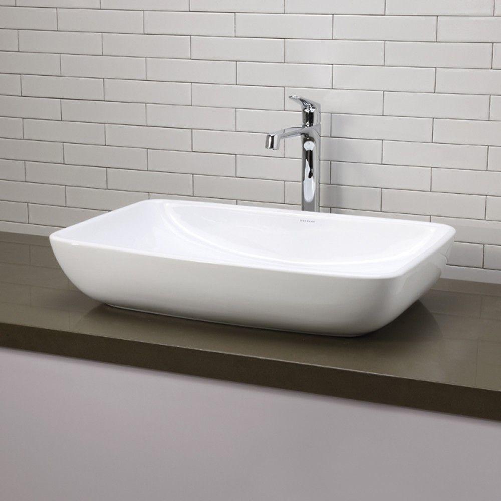 Jasmine Classically Redefined Ceramic Rectangular Vessel Bathroom Sink Rectangular Vessel Sink Above Counter Bathroom Sink Vessel Bathroom Sink