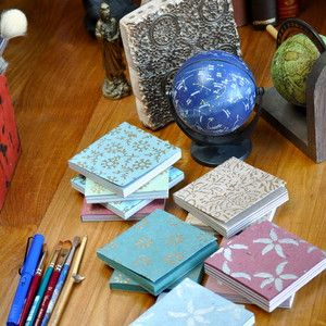 Shilpa Rathi Paperie for organic, fair trade textiles and handmade paper designs for sending handwritten notes (imagine that!)