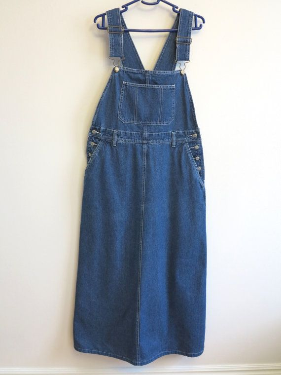 ae614f1b9568 Blue Denim Jumper Dress Overalls Oversized Bib Dress Cotton Jeans Sarafan