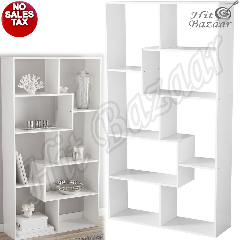 This Tall Bookcase Storage Cube Has 8 Divided Spaces Provide