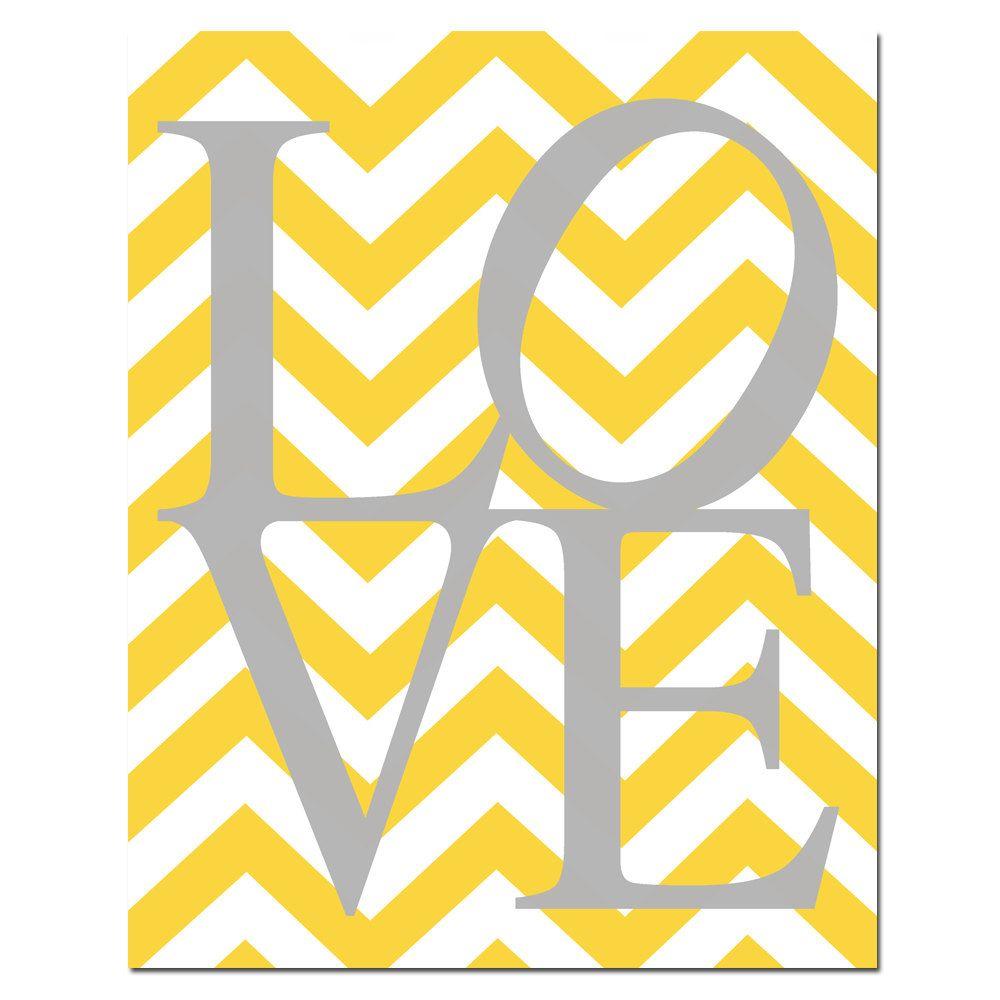 Chevron LOVE - 11 x 14 Print - Choose Your Colors - Chevron Design ...