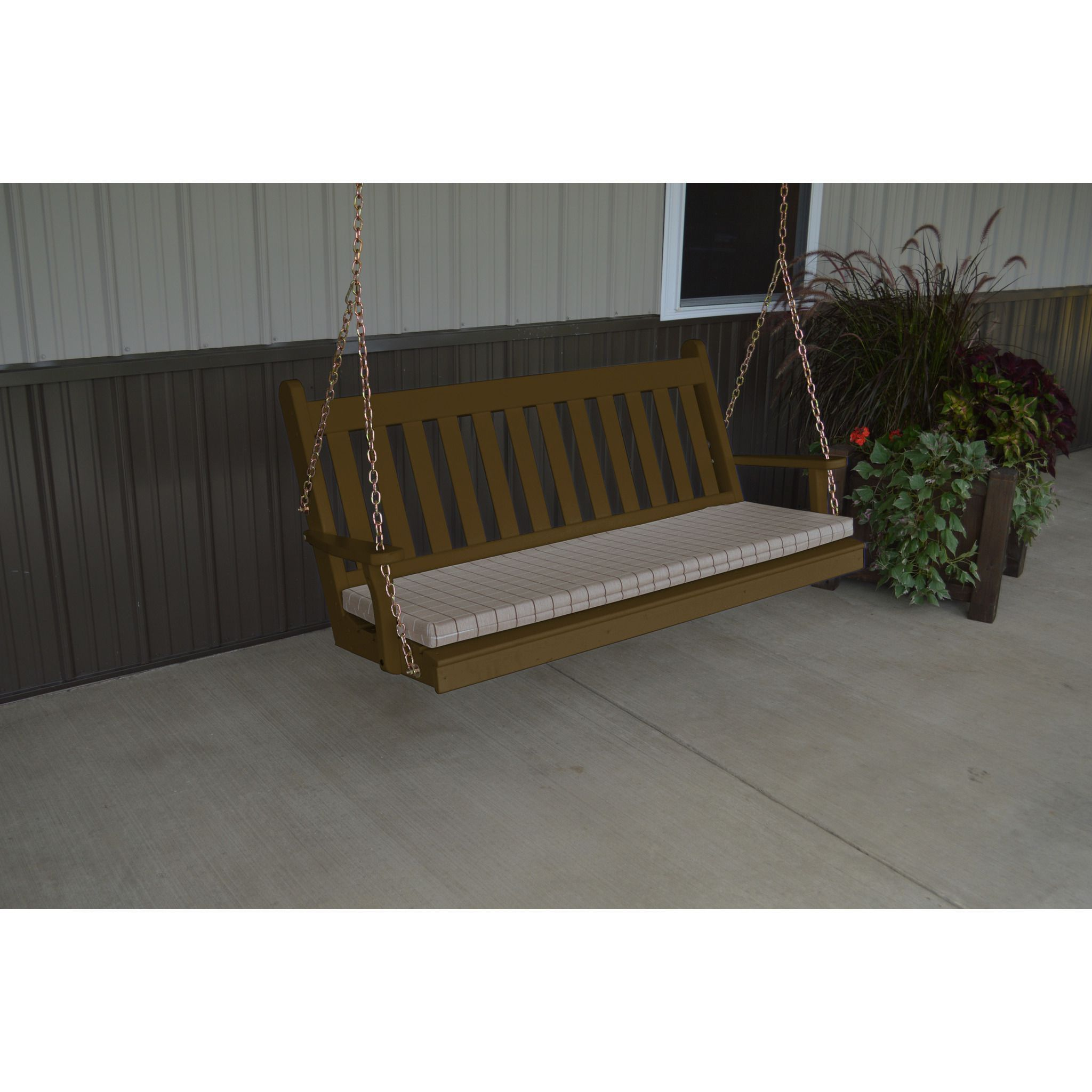 A & L Furniture Traditional English Yellow Pine 5ft. Porch Swing