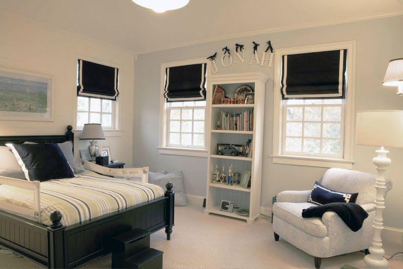 Forskjellige White and Blue Hamptons style boy bedroom | For the Home | Navy HR-69