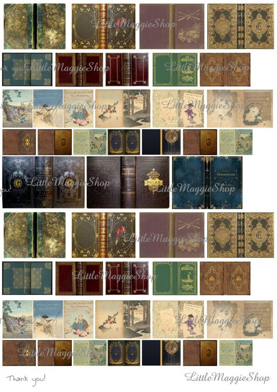 Vintage magic book covers set 112 scale downloadable printable vintage magic book covers set 112 scale downloadable printable covers for do it solutioingenieria Image collections