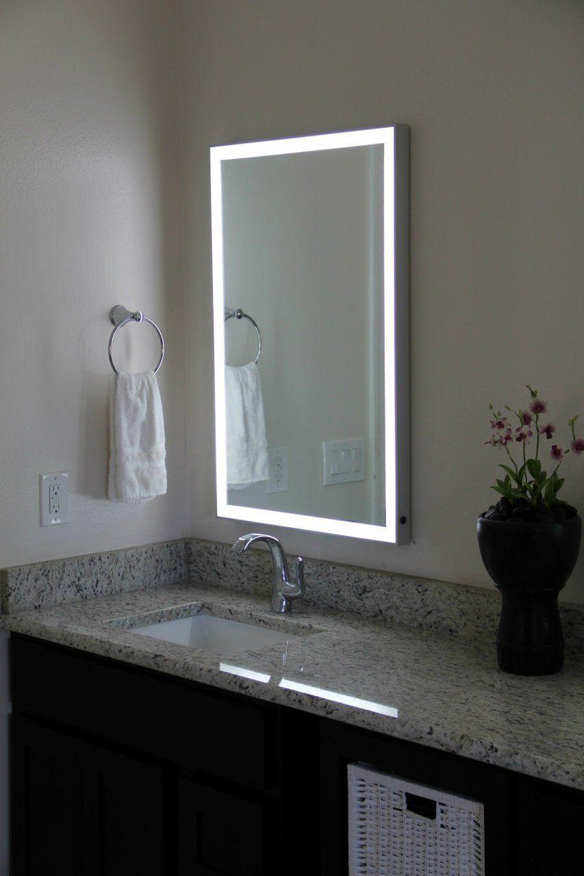Vera led bordered wallmounted mirror aluminum frame