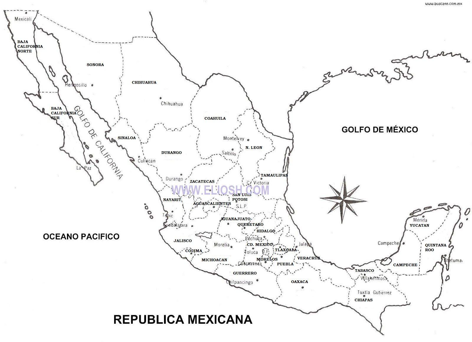 Image Result For Mapa De Mexico Estados Y Capitales Natyluuu In