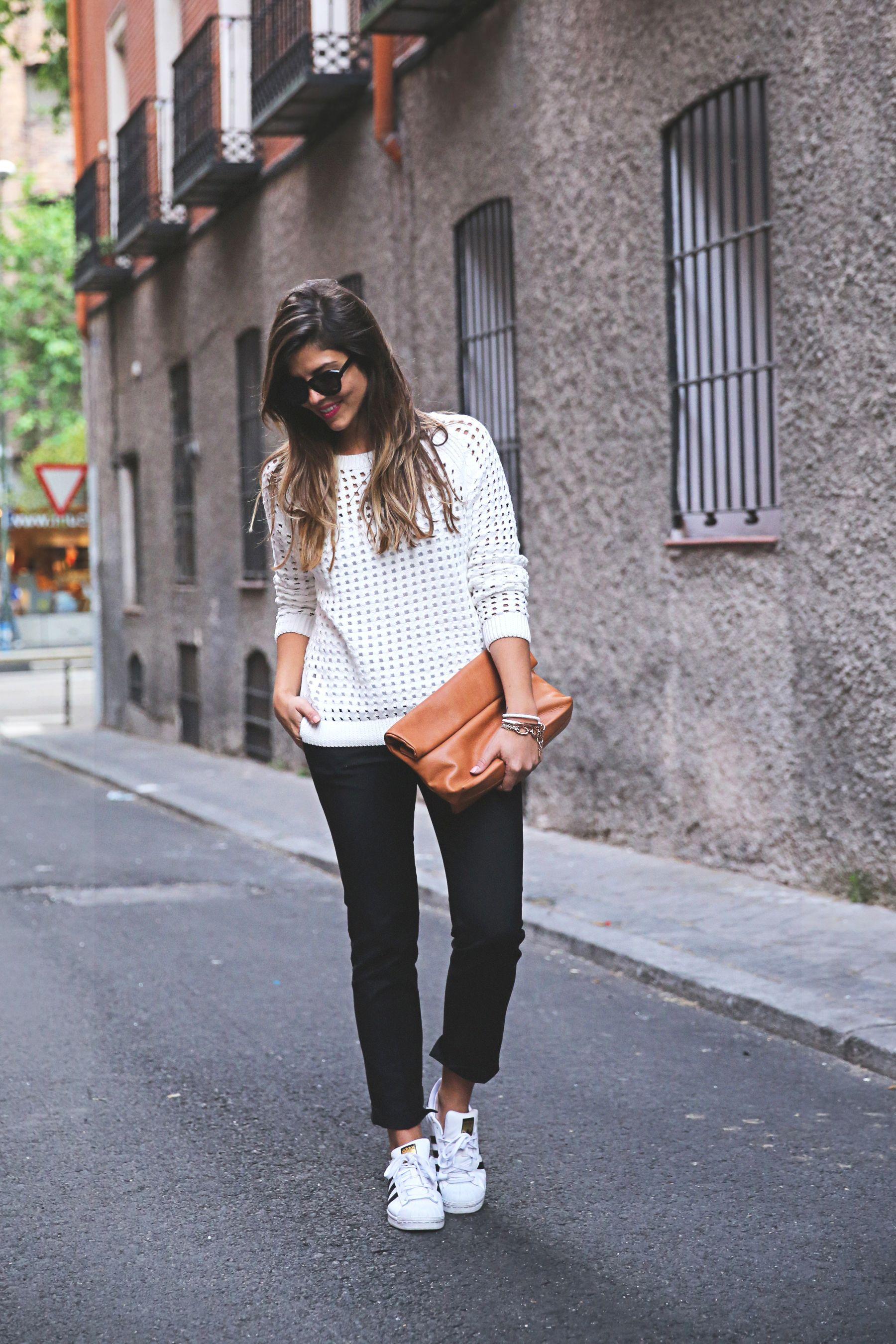 newest c4c59 beade Zara Pants, Adidas Superstar