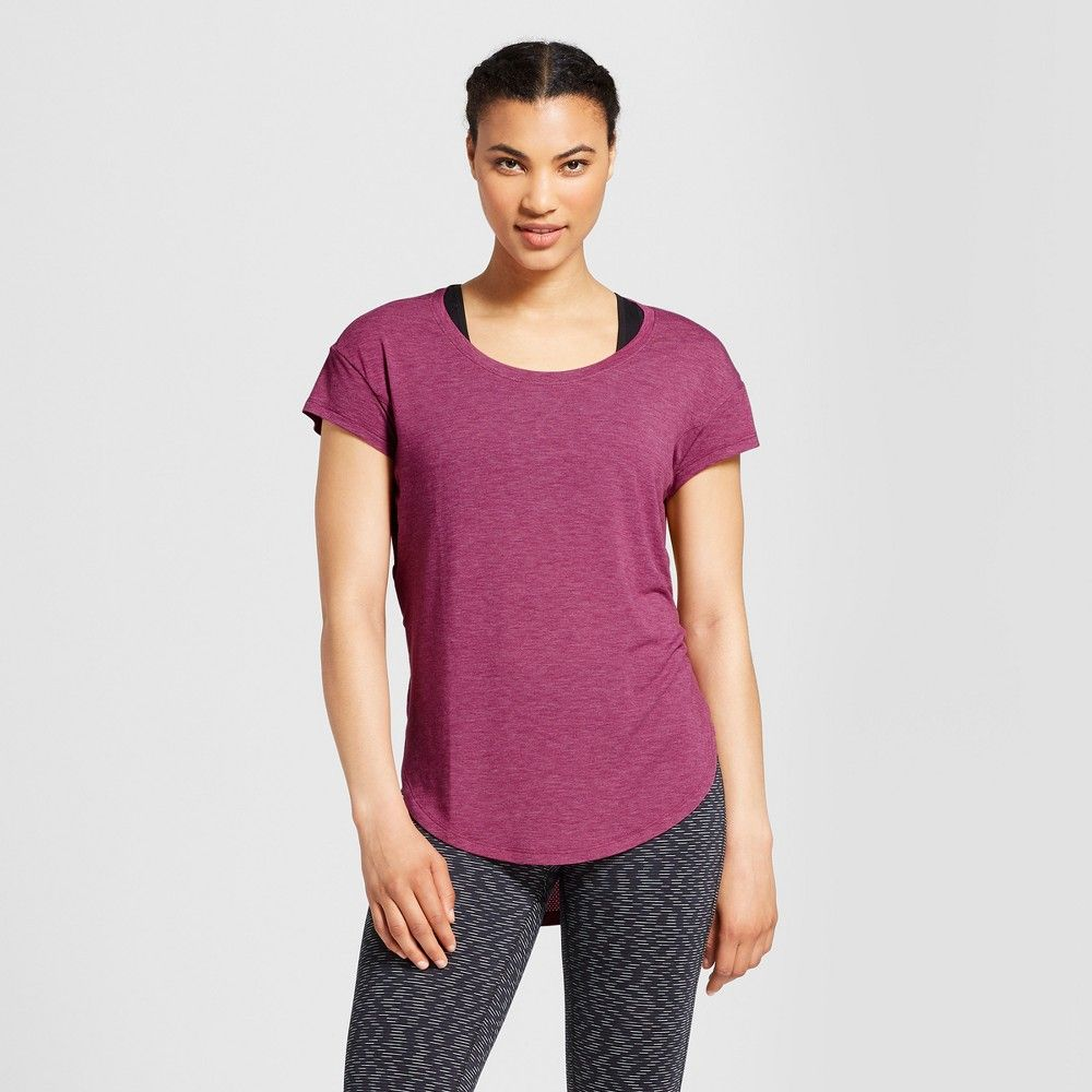 72732de6a The Women's Active T-Shirt from C9 Champion is your new favorite basic with  a long back drop hem made of mesh and a loose fit. This short sleeve tee  will ...