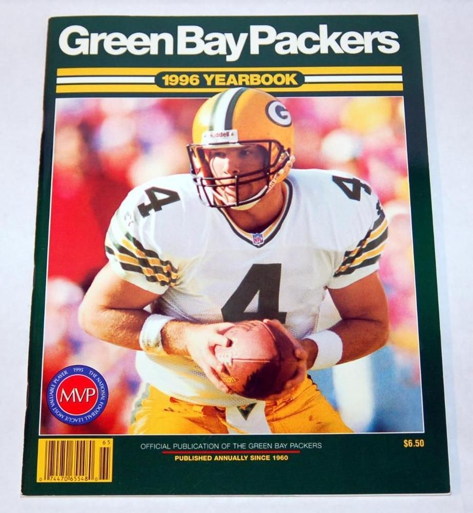 GREEN BAY PACKERS OFFICIAL 1996 TEAM YEARBOOK BRETT