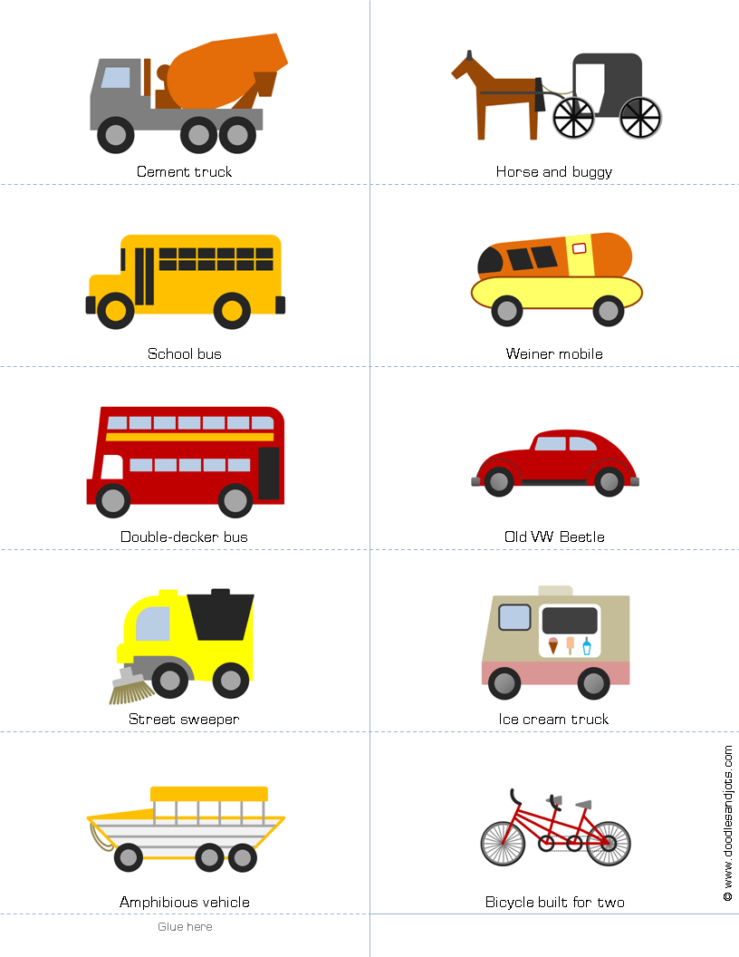 vehicle vocabulary vocabulary vehicles transportation theme preschool transportation unit. Black Bedroom Furniture Sets. Home Design Ideas