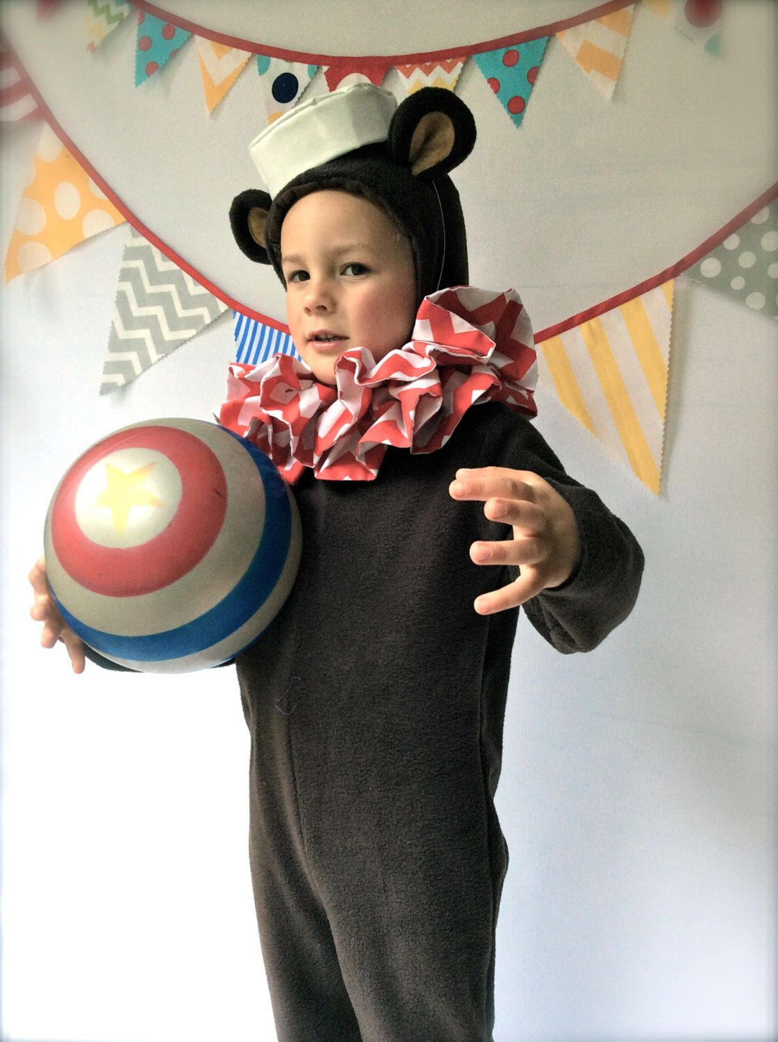 Bear Halloween Costume Circus Bear with hat and collar Kids ...