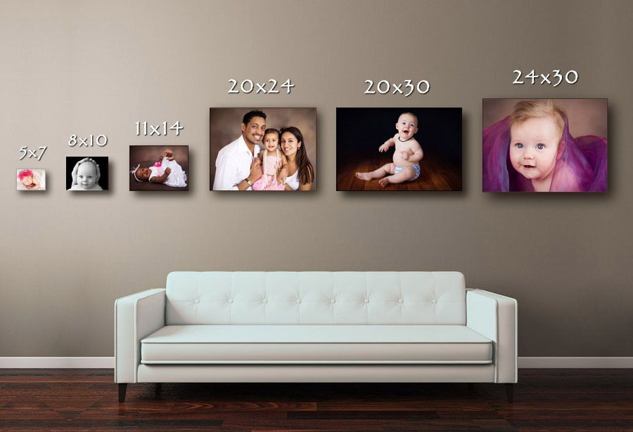 Canvas Size comparision | Photo wall display, Frames on ...