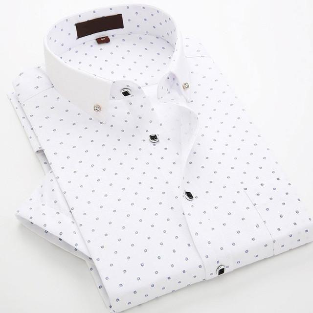 Men S Shirts Brand Mens Shirts Short Sleeve 2017 White Mens Dress