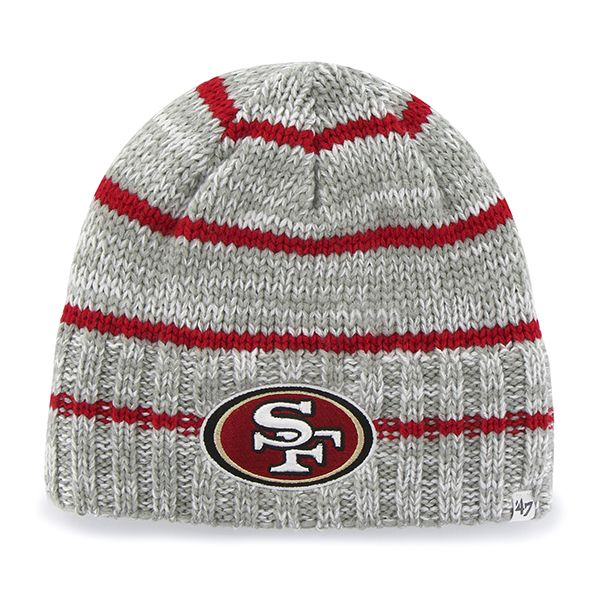 San Francisco 49ers Mcmahon Beanie Gray 47 Brand Hat Grey Beanie 47 Brand Beanie