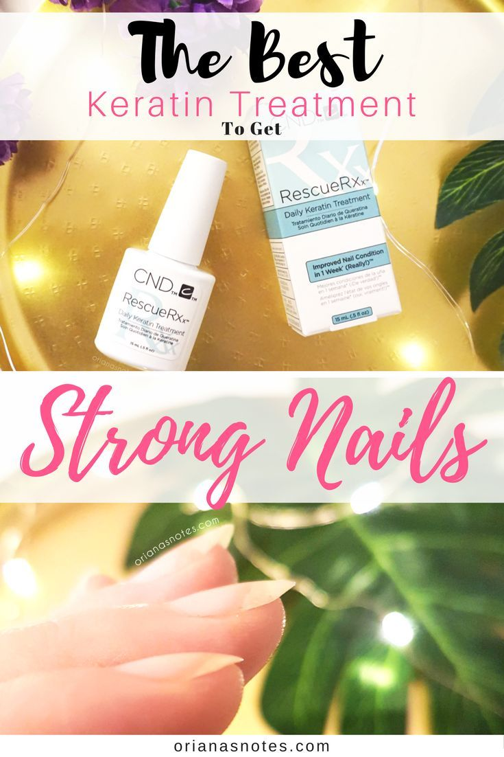 CND Daily Keratin Treatment Rescue Rx, an oil based nail treatment ...