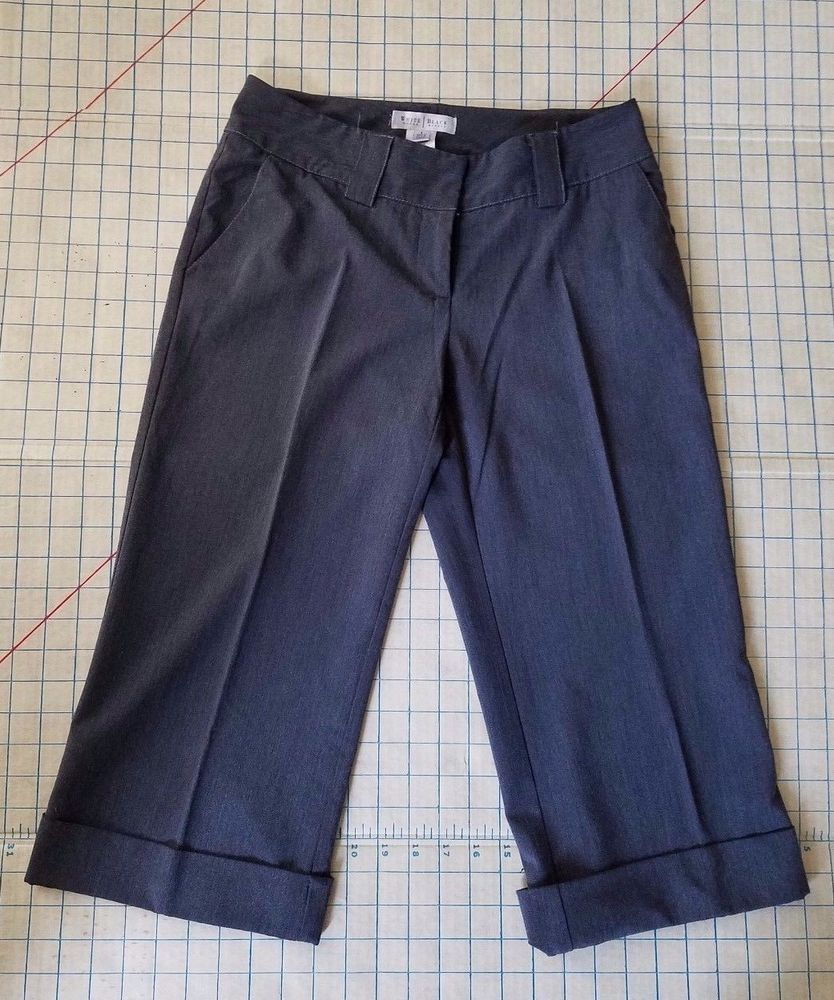d7b789e9 White House Black Market Capris Pants Womens size 4 grey tweed  #WhiteHouseBlackMarket #CaprisCropped