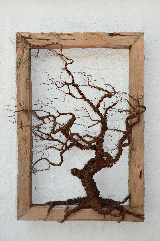 decoración arte objeto cuadro árbol alambre ironpig | CNC Ideas ...