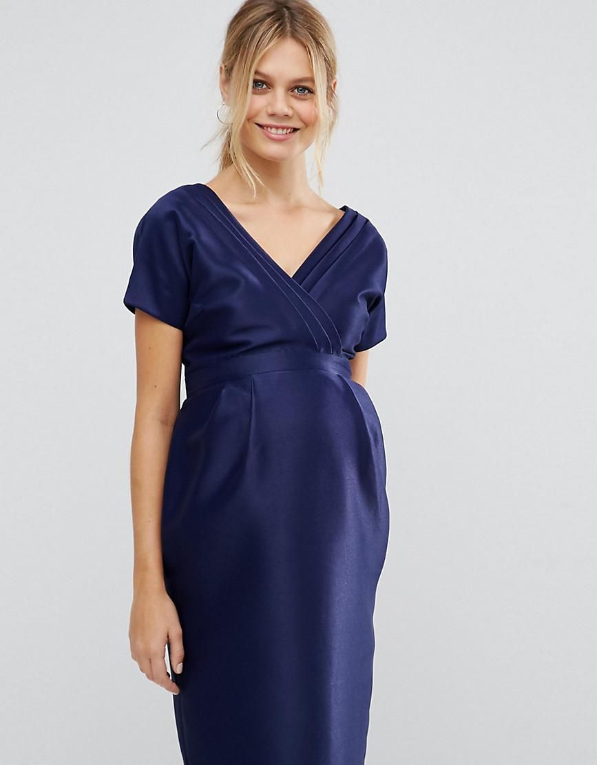 #NewYear #ASOS - #ASOS Maternity ASOS Maternity Dress with Bow Back - Blue - AdoreWe.com