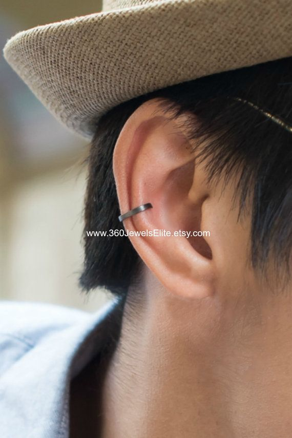 67097c0a1 Conch ear cuff, busted wire hoop, men's ear cuff, conch earring, non ...