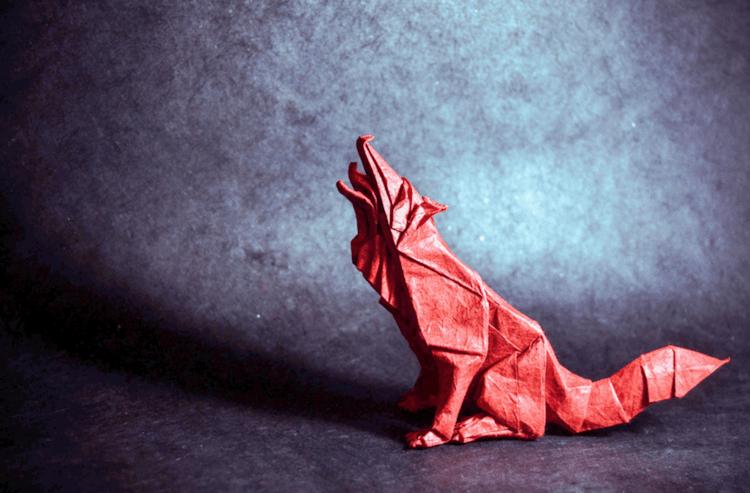 Origami dieren uit slechts één vel papier