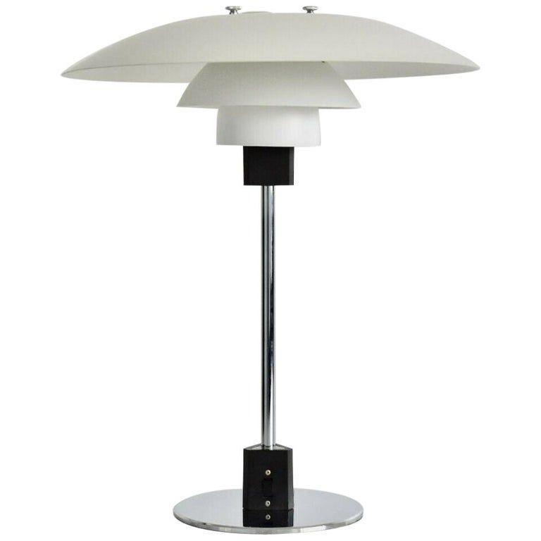 Louis Poulsen Table Lamp Vintage Poul Henningsen Ph 4 3 Denmark Danish Scandinavian Modern Metal Lamp Vintage Table Lamp Louis Poulsen