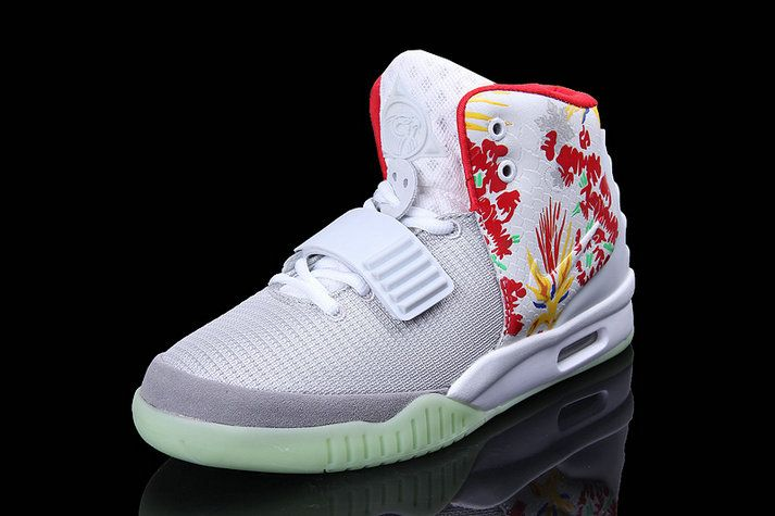 ca8edaa78bd8 Free Shipping Only 69  Nike Air Yeezy 2 Givenchy by Mache Customs White  Green Glow