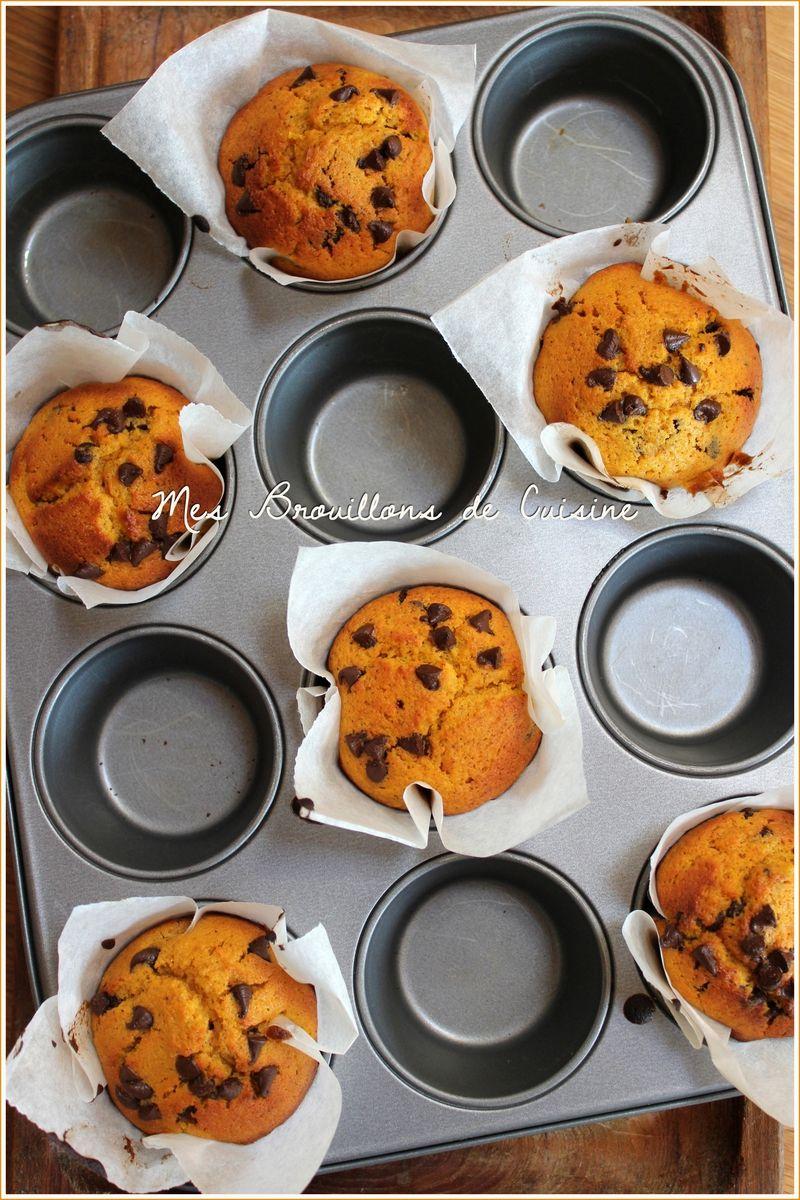 Muffins à la courge et aux pépites de chocolat ...