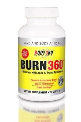 Burn360 - Fat Burner with Acai and Trans Resveratrol, 72 Count - For Sale